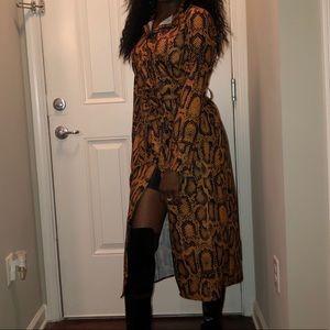 SHEIN Midi Shirt Dress